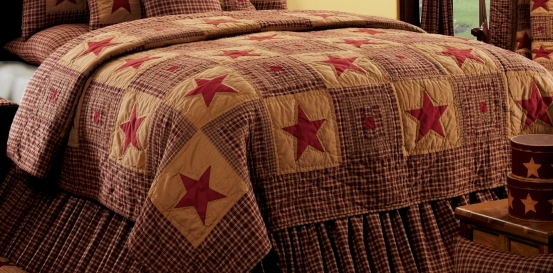 Country quilted bedding collections from IHF