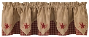 wine star point valance