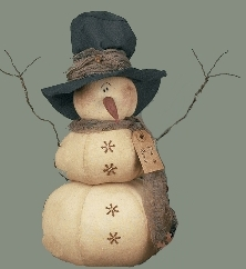 free primitive snowman patterns