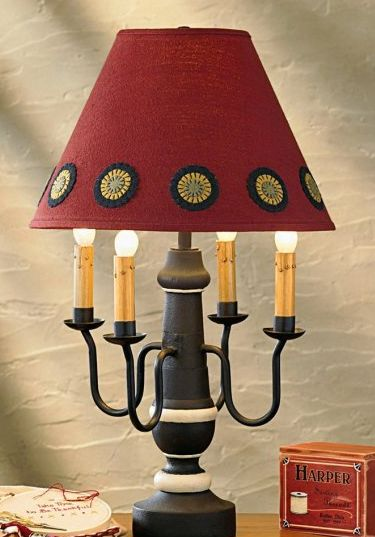 Country table lamps primitive home decors that aloadofball Choice Image