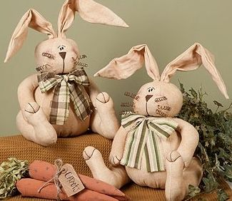 easter bunny pair