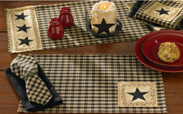 Country Table Linens Primitive Home Decors