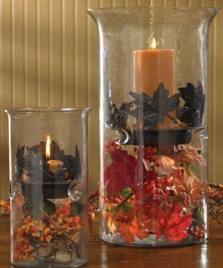 Primitive Fall Table Decor Photograph Accents Jar Can