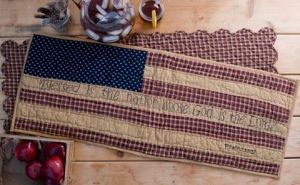 Blessed nation table runner