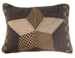 Farmhouse Star luxury quilted sham