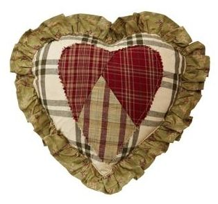 Heartland heart-shaped pillow