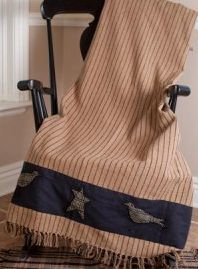Kettle Grove applique throw
