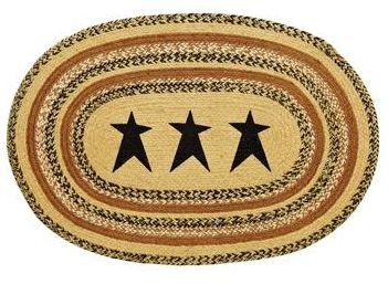 Kettle Grove stencil stars rug