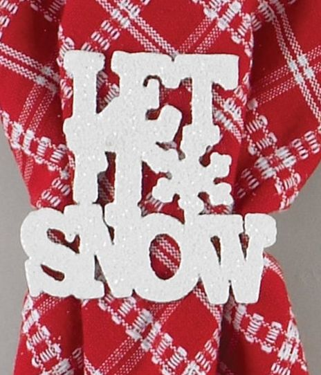 Let It Snow napkin ring