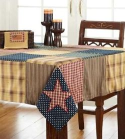 Patriotic Patch table cloth