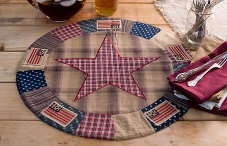 Patriotic Patch table mat