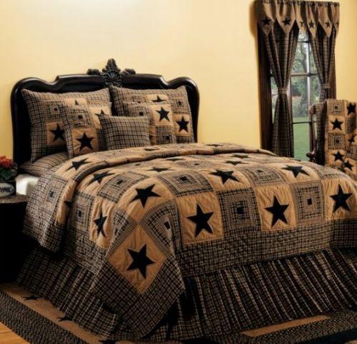 Vintage Star Black bedding collection