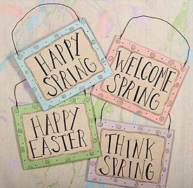 Spring signs set
