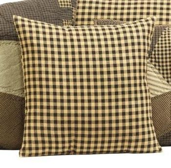 Farmhouse star black check pillow