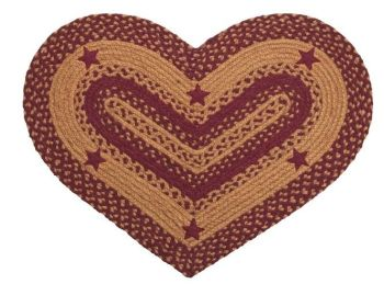 Heart braided rug