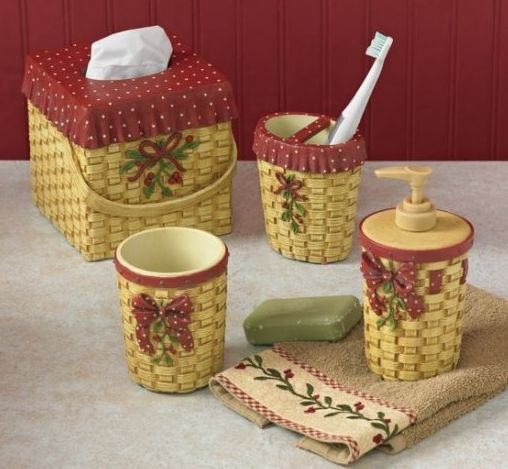 Thistleberry bath decor set