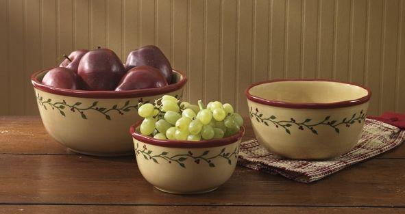 Thistleberry mixing bowl set