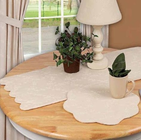 Candlewicking table linens