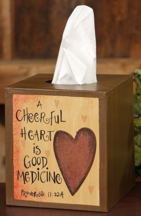 Cheerful Heart Tissue Box Cover