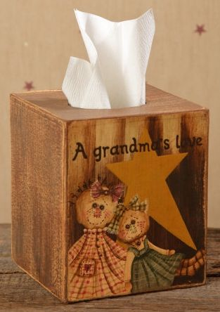 Grandmas Love Tissue Box Cover