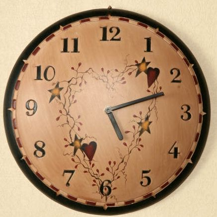 Star and Heart wall clock