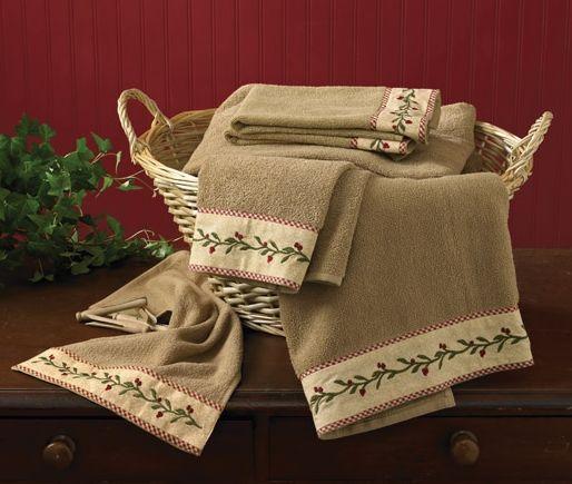 Thistleberry bathroom towel set