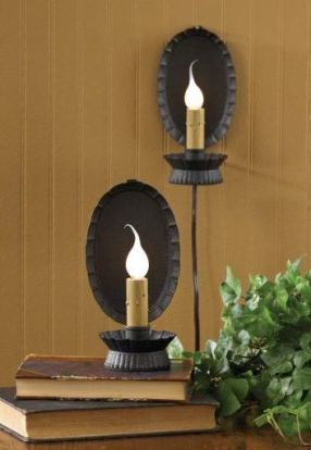 Oval reflector candlestick lamps
