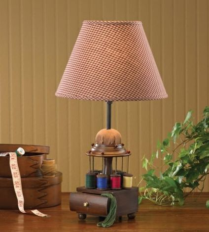 Sewing caddy lamp