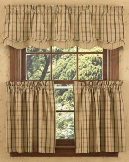 Adamstown Sand Valance and Window Tiers