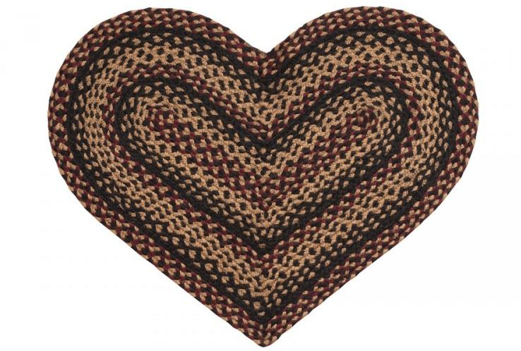 Blackberry Heart Braided Rug