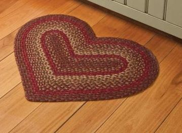 Cinnamon Heart Braided Rug
