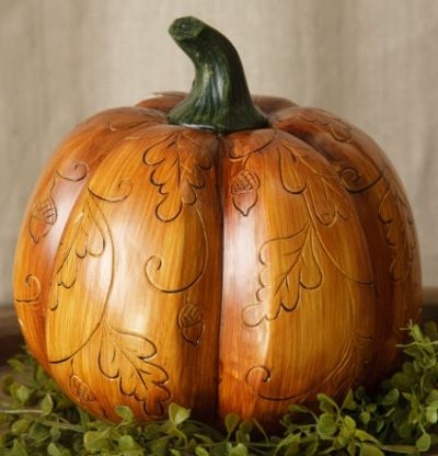 Primitive Carved Pumpkin