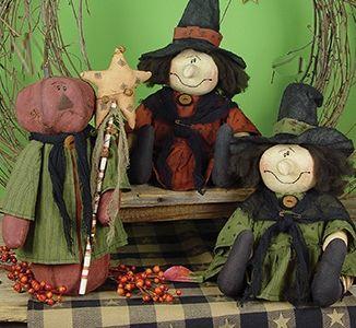 Primitive Witch Dolls