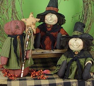 Primitive Witch Dolls