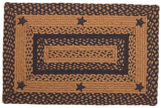 Amazing Black Star Braided Rugs