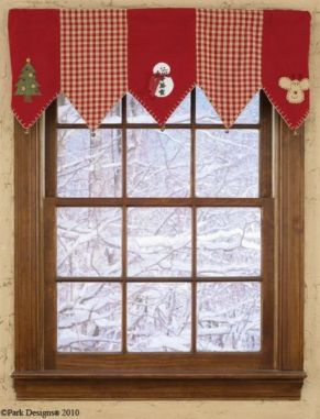 Christmas Tree Window Valance
