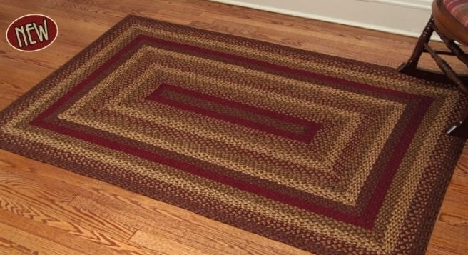 Cinnamon Braided Jute Rugs
