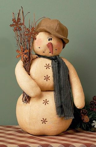 Country Elmer Snowman Doll
