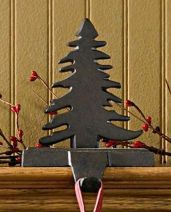 Fir Tree Iron Stocking Hanger