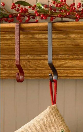 Iron stocking hanger