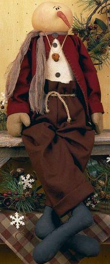 Mr. Jingles Primitive Snowman Doll