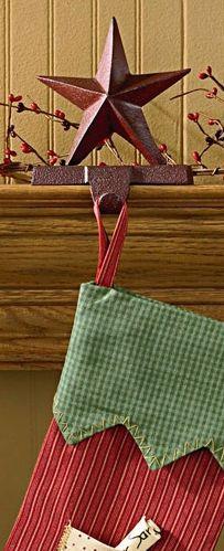 Red star stocking hanger
