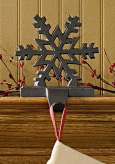 snowflake stocking hanger