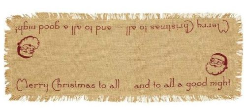Burlap Santa table runner