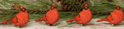 Cardinal Christmas tree set