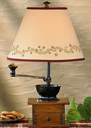 coffee-grinder lamp
