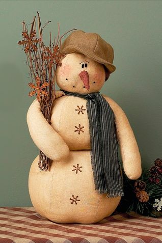 Country Elmer Snowman