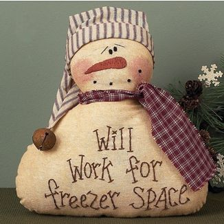 freezer space snowman