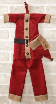 Hanging Santa Suit Decor