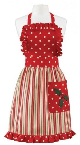 Holly Dots Christmas Apron